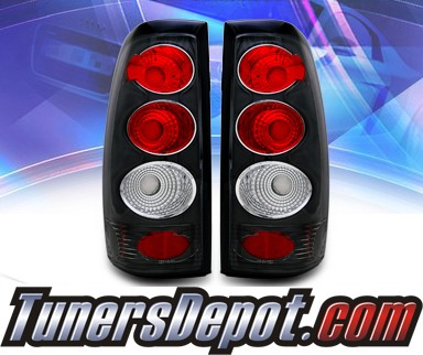 KS® Altezza Tail Lights (Black) - 99-06 Chevy Silverado Dualie