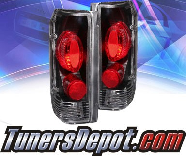 KS® Altezza Tail Lights (Black) (Gen 2) - 89-96 Ford F-350 F350