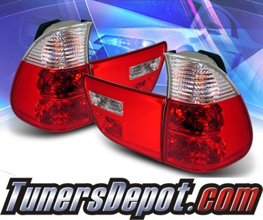 KS® Altezza Tail Lights (Red/Clear) - 00-05 BMW X5 E53