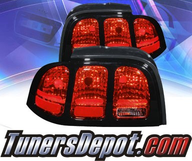 KS® Altezza Tail Lights (Red/Clear) - 94-98 Ford Mustang