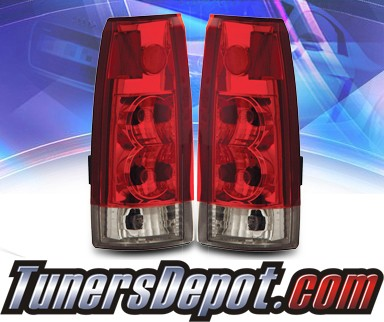 KS® Altezza Tail Lights (Red/Clear) - 99-00 Cadillac Escalade