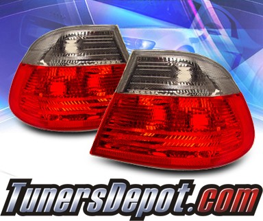 KS® Altezza Tail Lights (Smoke) - 99-01 BMW 325Ci E46 2dr. exc. Convertible (Outer Pieces Only)