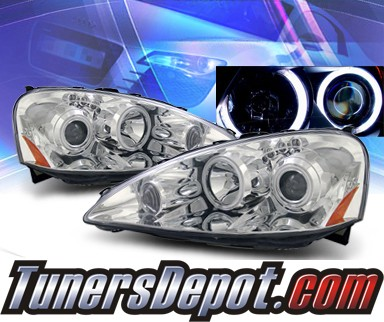 KS® CCFL Halo LED Projector Headlights - 05-06 Acura RSX