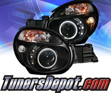 KS® CCFL Halo LED Projector Headlights (Black) - 02-04 Subaru Impreza