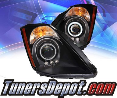 KS® CCFL Halo LED Projector Headlights (Black) - 03-05 Nissan 350Z