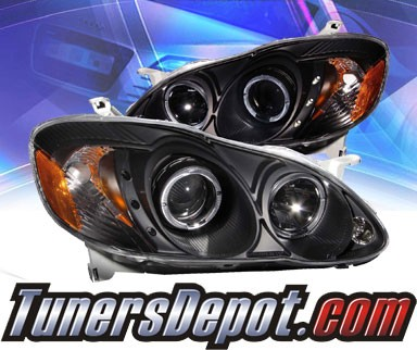 KS® CCFL Halo LED Projector Headlights (Black) - 03-05 Toyota Corolla
