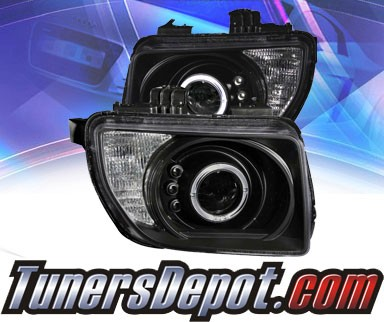 KS® CCFL Halo LED Projector Headlights (Black) - 03-06 Honda Element
