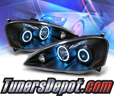 KS® CCFL Halo LED Projector Headlights (Black) - 05-06 Acura RSX