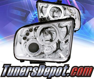 KS® CCFL Halo LED Projector Headlights (Black) - 05 - 09 Ford Mustang