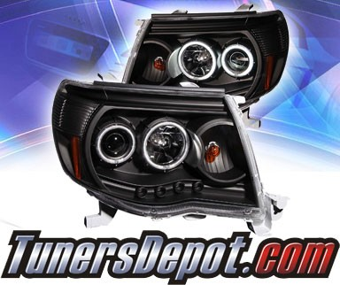 KS® CCFL Halo LED Projector Headlights (Black) - 05-09 Toyota Tacoma