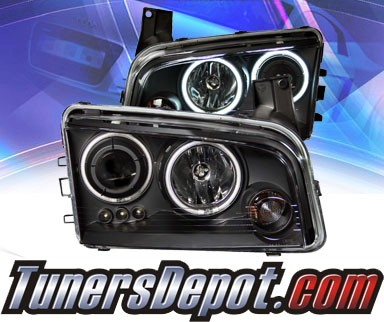 KS® CCFL Halo LED Projector Headlights (Black) - 06-10 Dodge Charger