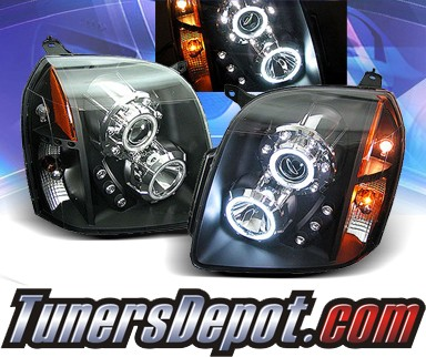 KS® CCFL Halo LED Projector Headlights (Black) - 07-12 GMC Yukon (Inc. XL/Denali/Hybrid)