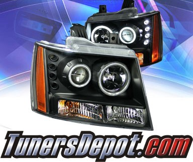 KS® CCFL Halo LED Projector Headlights (Black) - 07-13 Chevy Avalanche