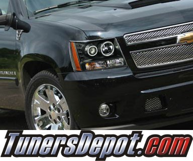 KS® CCFL Halo LED Projector Headlights (Black) - 07-14 Chevy Suburban
