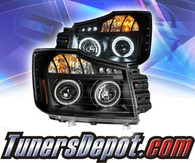 KS® CCFL Halo LED Projector Headlights (Black) - 08-13 Nissan Titan
