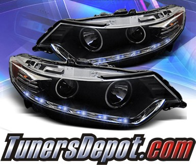 KS® CCFL Halo LED Projector Headlights (Black) - 09-13 Acura TSX (w/ OEM HID Only)