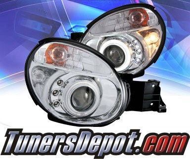 KS® CCFL Halo LED Projector Headlights (Chrome) - 02-04 Subaru Impreza