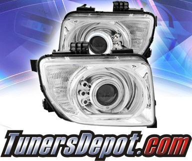 KS® CCFL Halo LED Projector Headlights (Chrome) - 03-06 Honda Element