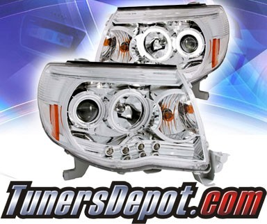 KS® CCFL Halo LED Projector Headlights (Chrome) - 05-09 Toyota Tacoma