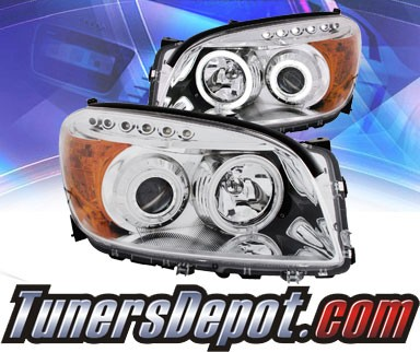 KS® CCFL Halo LED Projector Headlights (Chrome) - 06-08 Toyota RAV4 RAV-4