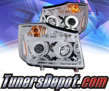 KS® CCFL Halo LED Projector Headlights (Chrome) - 08-13 Nissan Titan