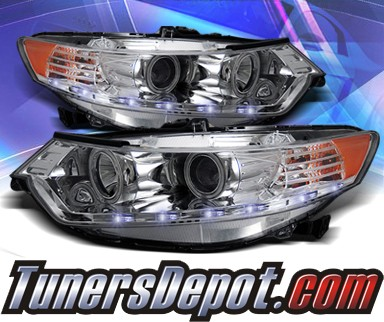 KS® CCFL Halo LED Projector Headlights (Chrome) - 09-13 Acura TSX (w/ OEM HID Only)