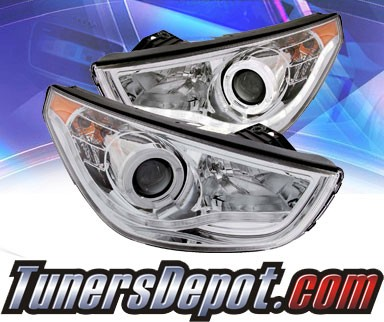 KS® CCFL Halo LED Projector Headlights (Chrome) - 10-12 Hyundai Tucson