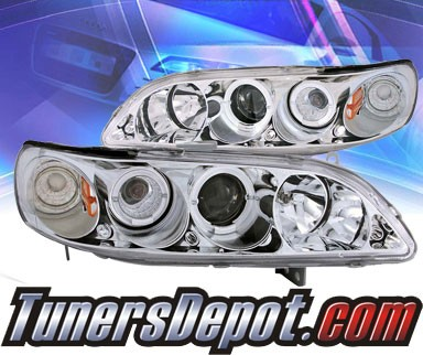 KS® CCFL Halo LED Projector Headlights (Chrome) - 98-02 Honda Accord