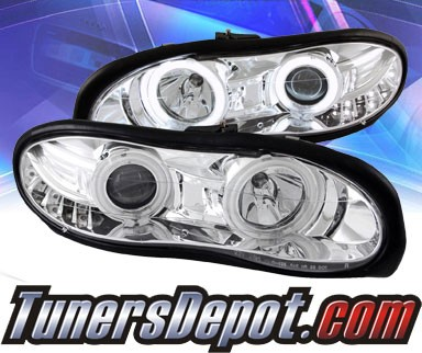 KS® CCFL Halo LED Projector Headlights (Chrome) - 98-08 Chevy Camaro