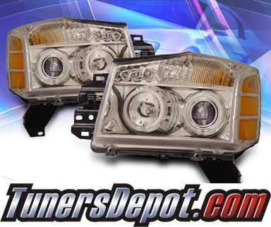KS® CCFL Halo Projector Headlights - 04-07 Nissan Titan