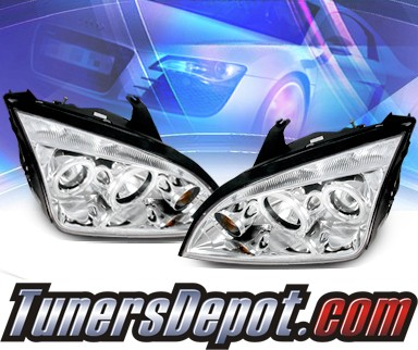 KS® CCFL Halo Projector Headlights - 05-07 Ford Focus ZX4 4dr.