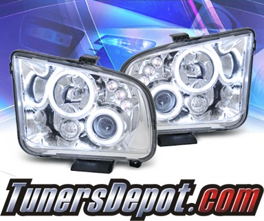 KS® CCFL Halo Projector Headlights - 05-09 Ford Mustang