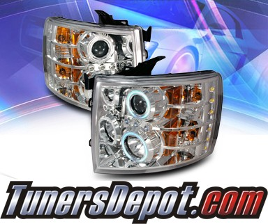 KS® CCFL Halo Projector Headlights  - 07-10 Chevy Silverado