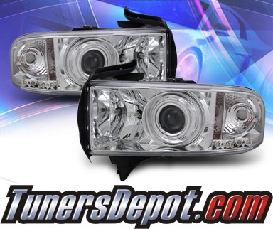 KS® CCFL Halo Projector Headlights  - 94-01 Dodge Ram 1500 Pickup