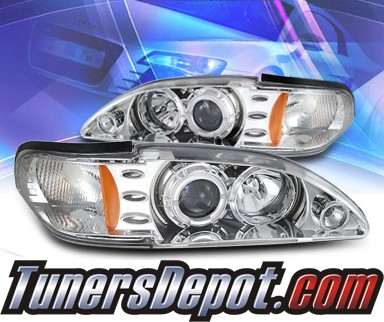 KS® CCFL Halo Projector Headlights  - 94-98 Ford Mustang