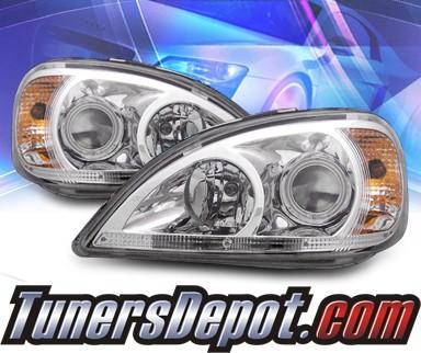 Ks ccfl halo projector headlights 99 01 mercedes benz for 99 mercedes benz ml430