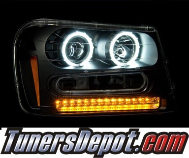 KS® CCFL Halo Projector Headlights (Black) - 02-05 Chevy TrailBlazer