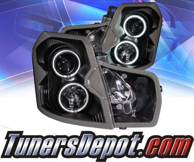 KS® CCFL Halo Projector Headlights (Black) - 03-07 Cadillac CTS