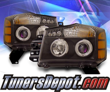 KS® CCFL Halo Projector Headlights (Black) - 04-07 Nissan Titan
