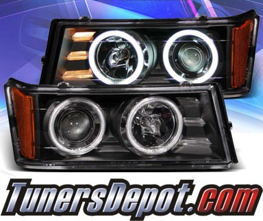 KS® CCFL Halo Projector Headlights (Black) - 04-12 Chevy Colorado