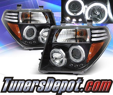 KS® CCFL Halo Projector Headlights (Black) - 05-08 Nissan Frontier