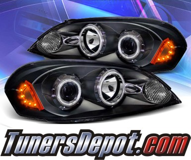 Ks Ccfl Halo Projector Headlights Black 06 13 Chevy Impala 02 Az Ci06 Pbc Rf A