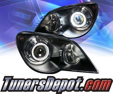 KS® CCFL Halo Projector Headlights (Black) - 07-08 Chrysler Pacifica