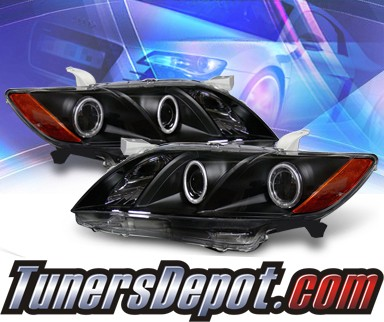 KS® CCFL Halo Projector Headlights (Black) - 07-09 Toyota Camry
