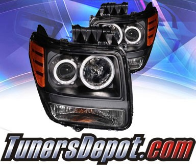 KS® CCFL Halo Projector Headlights (Black) - 07-11 Dodge Nitro