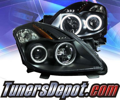 KS® CCFL Halo Projector Headlights (Black) - 08-10 Nissan Altima Coupe 2dr.