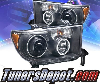 KS® CCFL Halo Projector Headlights (Black) - 08-13 Toyota Sequoia