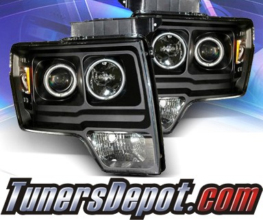 KS® CCFL Halo Projector Headlights (Black) - 09-13 Ford F150 F-150