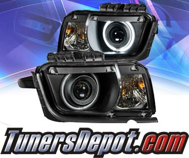 KS® CCFL Halo Projector Headlights (Black) - 10-13 Chevy Camaro