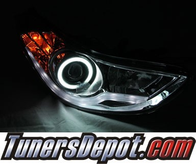 KS® CCFL Halo Projector Headlights (Black) - 11-13 Hyundai Elantra